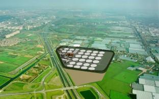 W1691 Stedenb plan Rioolwaterzuivering Harnaschpolder Delft W1691-a